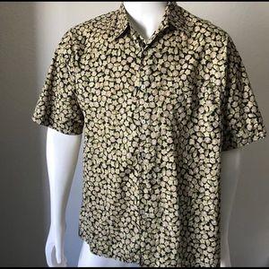 Tori Richard Mens L Hawaiian Shirt Cotton